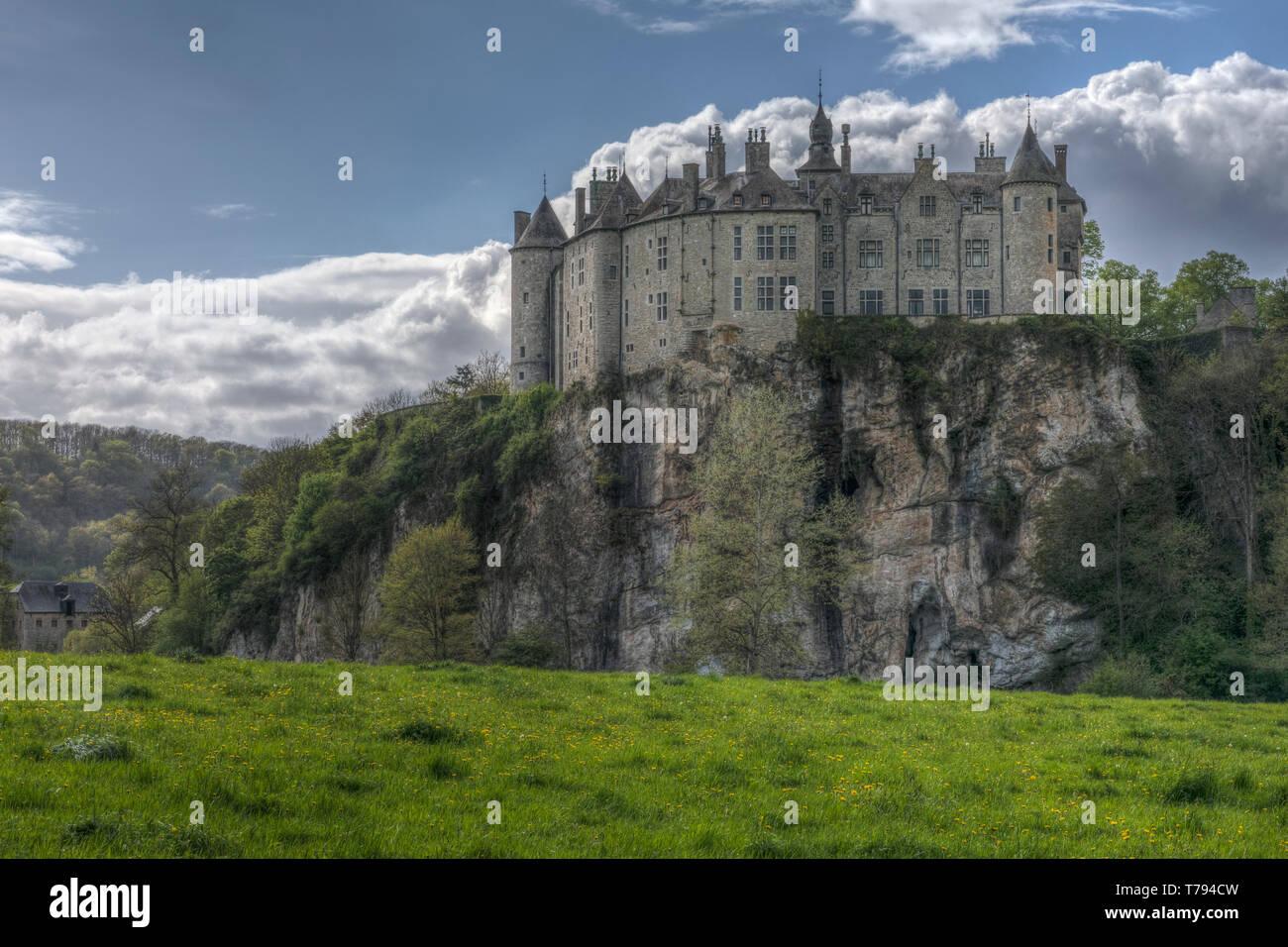 Walzin Castle, Dinant, Namur, Belgium, Europe - Stock Image