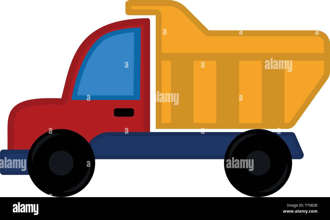 Isolated colored truck construction toy for kids Stock Vector Art