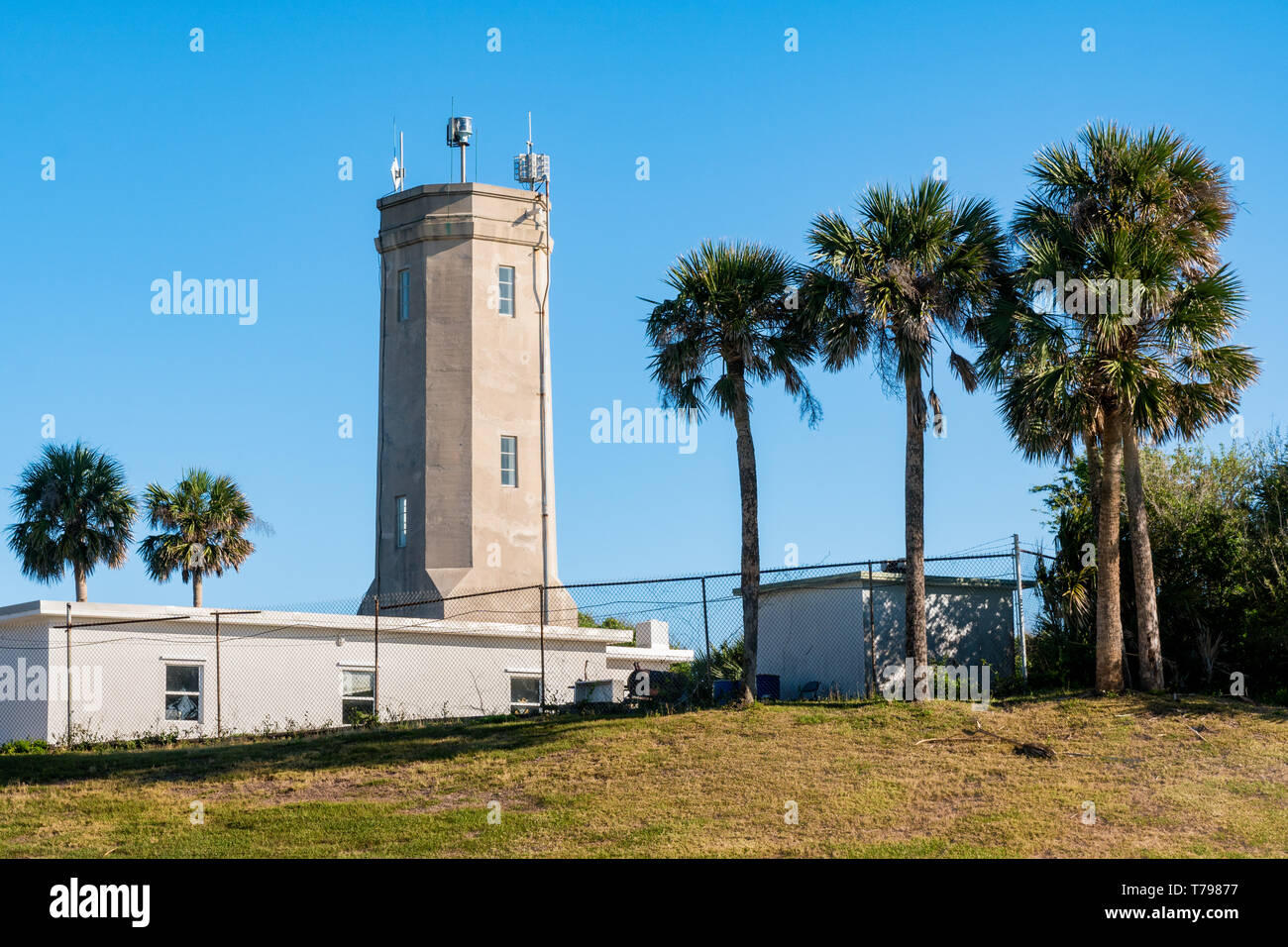 St Johns Lighthouse, Naval Station Mayport, Florida - Stock Image