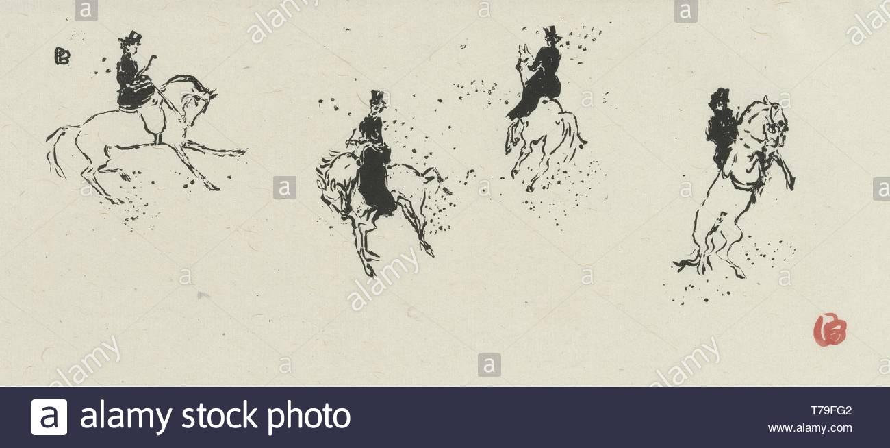 default-In het circus... De dressuur (Au cirque... La haute-école) uit de prentenserie Petites scènes familières - Stock Image