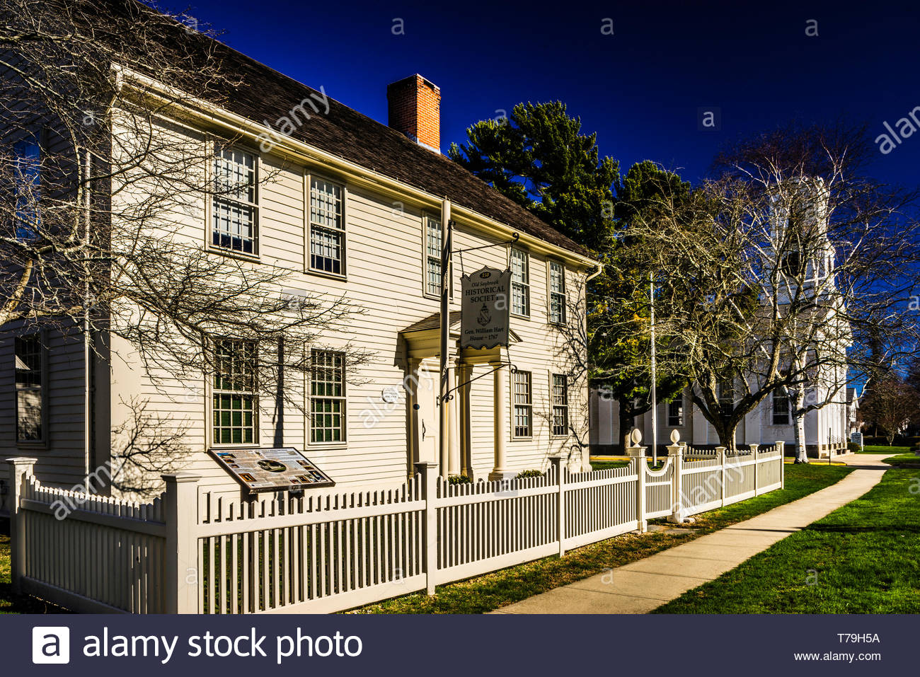 Gen. William Hart House Old Saybrook South Green  Old Saybrook, Connecticut, USA Stock Photo