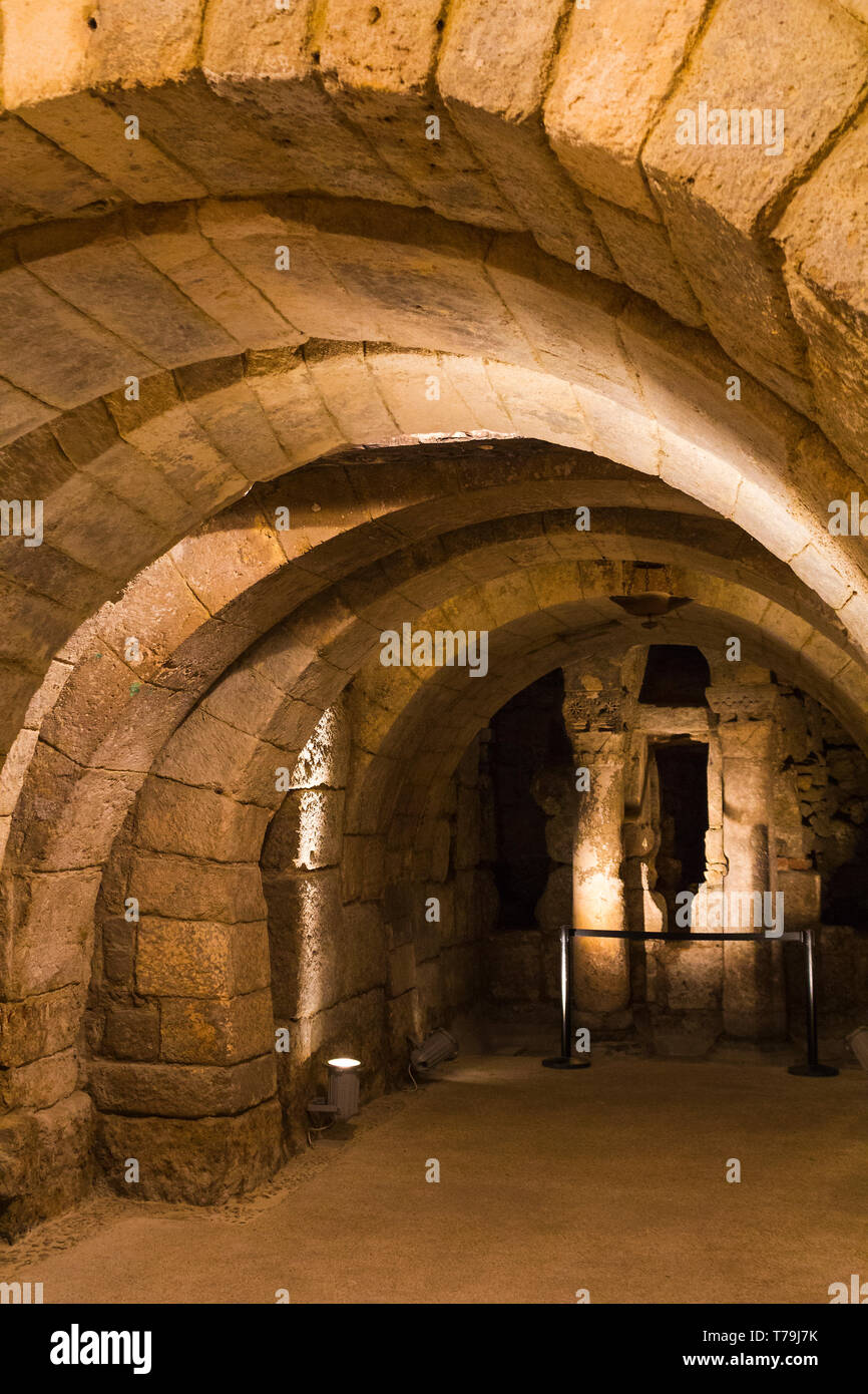 Palencia cathedral crypt - Stock Image