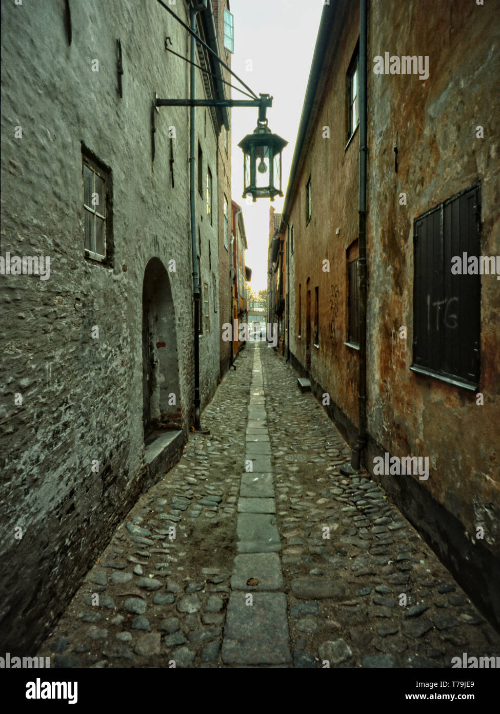 Gamle Faergestraede (Old Ferrystreet) in Helsingoer, Sjaelland, Denmark - Stock Image
