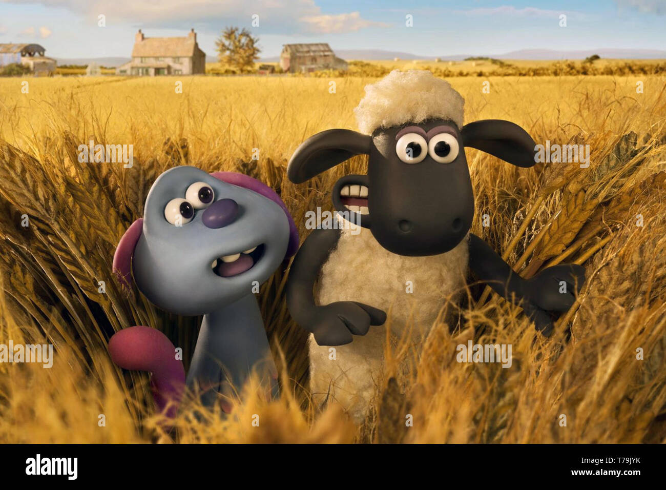 A Shaun the Sheep Movie: Farmageddon (or Shaun the Sheep Movie 2) is an upcoming 2019 British stop-motion animated sci-fi comedy film produced by Aardman Animations.    This photograph is supplied for editorial use only and is the copyright of the film company and/or the designated photographer assigned by the film or production company. - Stock Image