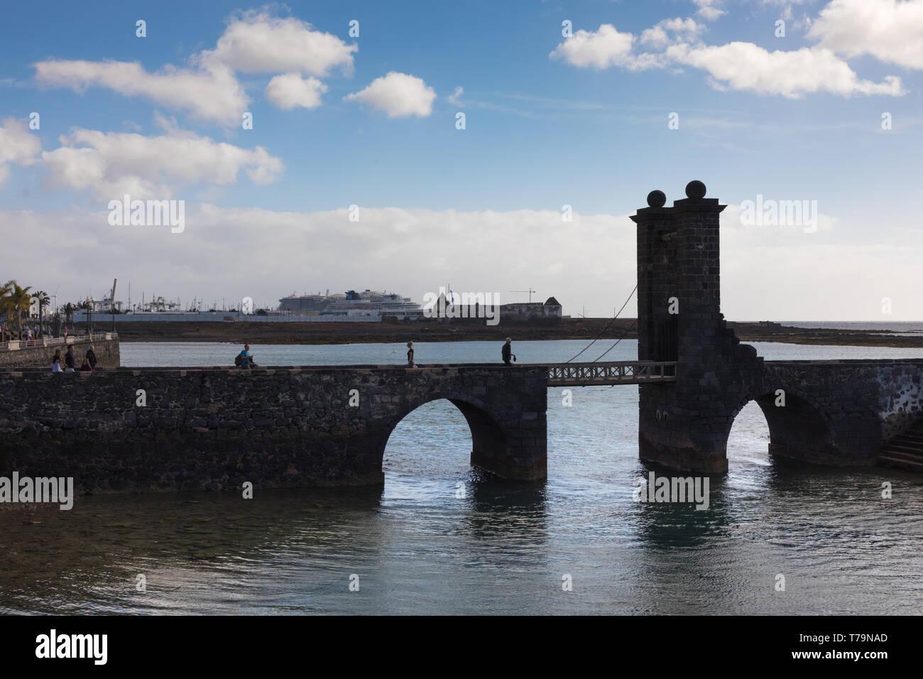 Puente de las Bolas, Arrecife, Lanzarote Stock Photo