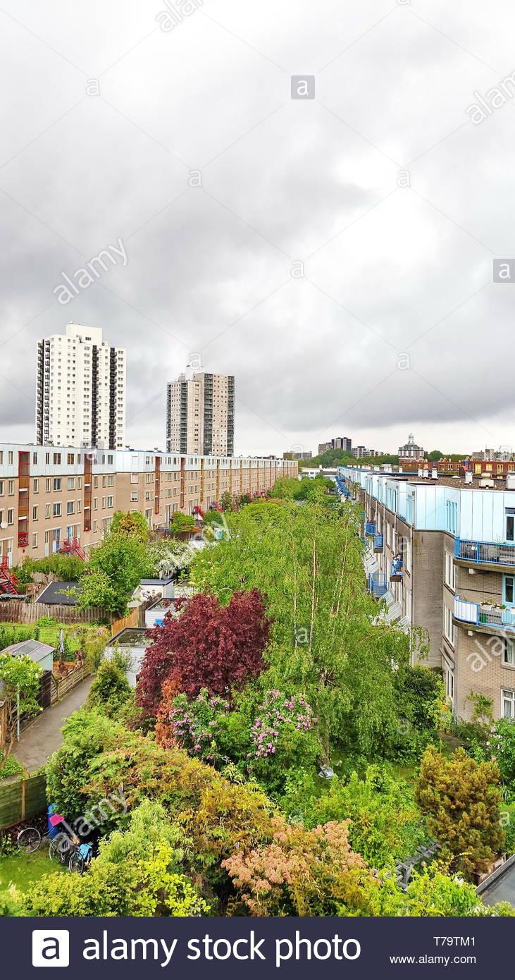 Urban development: De Esch quarter, Rotterdam, Netherlands Stock Photo