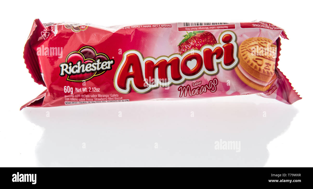 Amori De winneconne, wi - 28 april 2019: a package of richester amori
