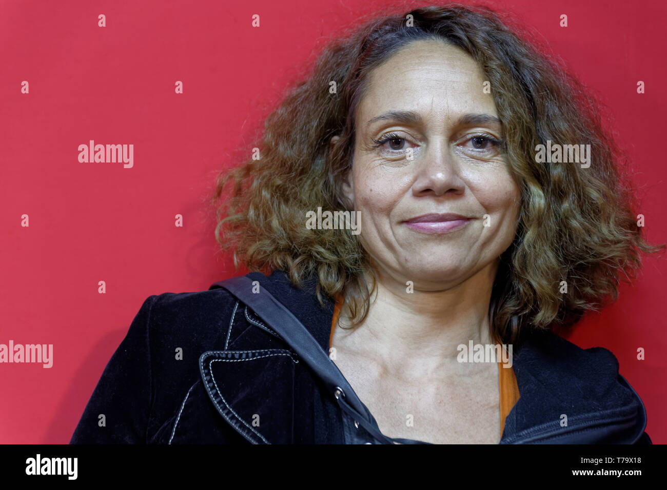 Villejuif,France.31th Jan 2019.Emmanuelle Honorin attends Jairo's Positives Micro-Ondes show at Arts-Mada.Credit:Veronique Phitoussi/Alamy Stock Photo - Stock Image