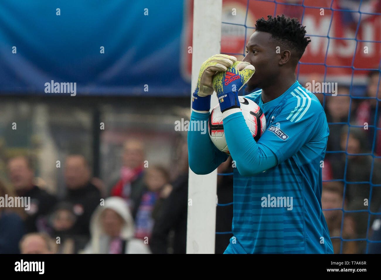 5 may 2019 Rotterdam, The Netherlands Soccer Dutch Cupfinal Willem II v Ajax  KNVB Bekerfinale 2019  Andre Onana (Ajax) Stock Photo
