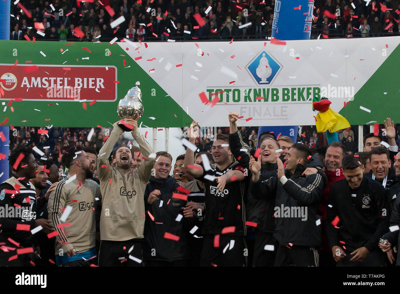 5 may 2019 Rotterdam, The Netherlands Soccer Dutch Cupfinal Willem II v Ajax  KNVB Bekerfinale 2019  Ajax Stock Photo