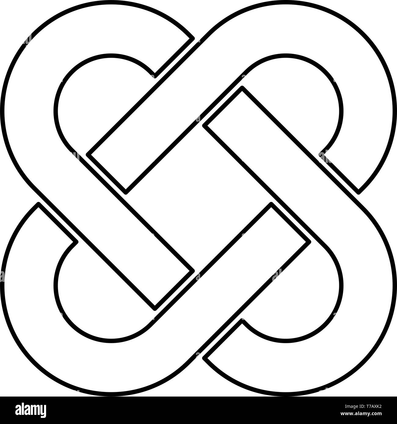 Celtic Knot Black and White Stock Photos & Images - Alamy