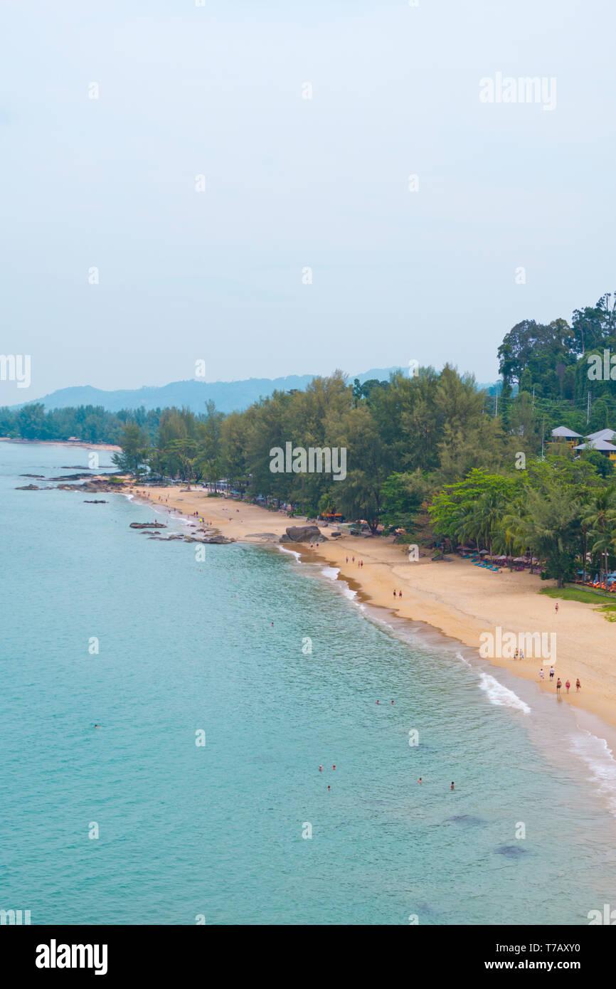 Beach, elevated view, Khao Lak, Thailand Stock Photo