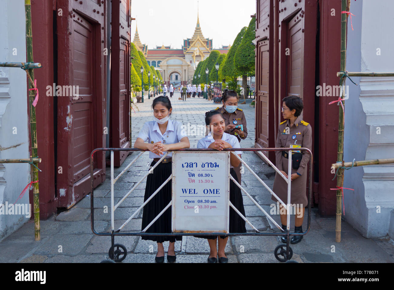 Entrance to the Grand Palace, Phra Nakhon, Bangkok, Thailand Stock Photo