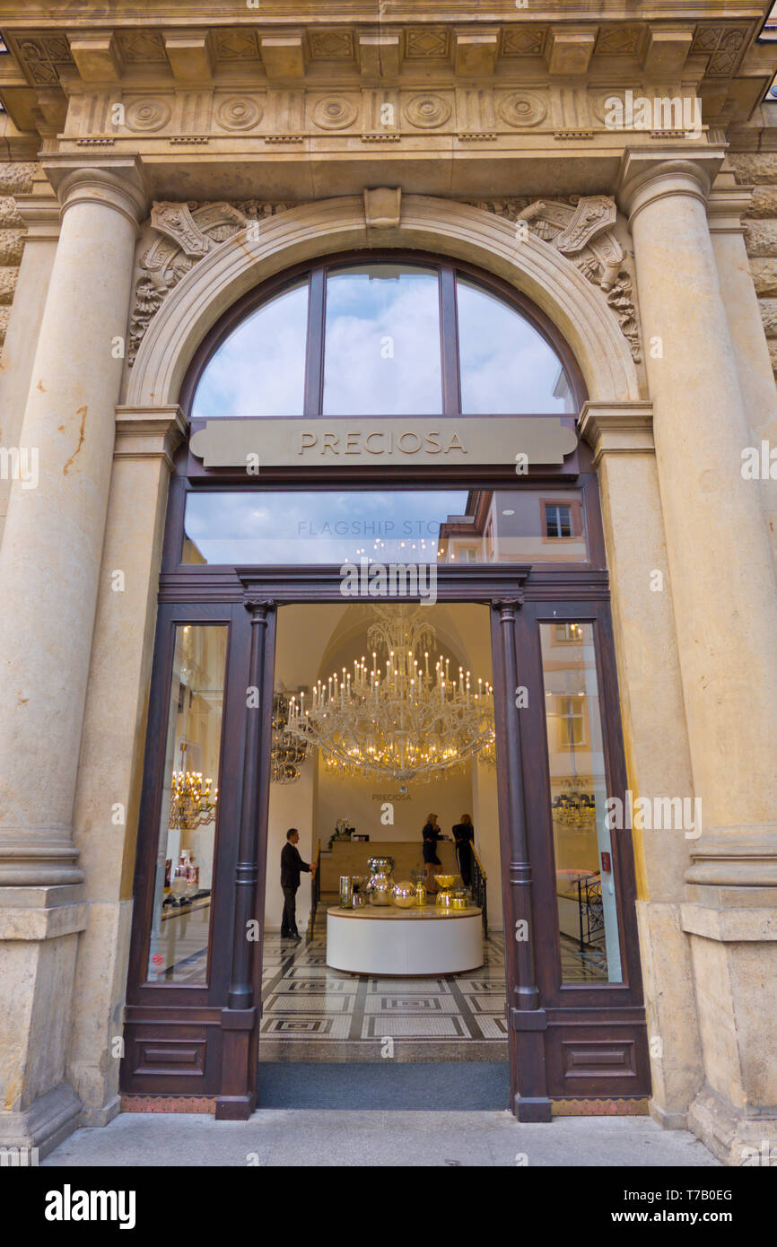Preciosa flagship store, Prague, Czech Republic - Stock Image