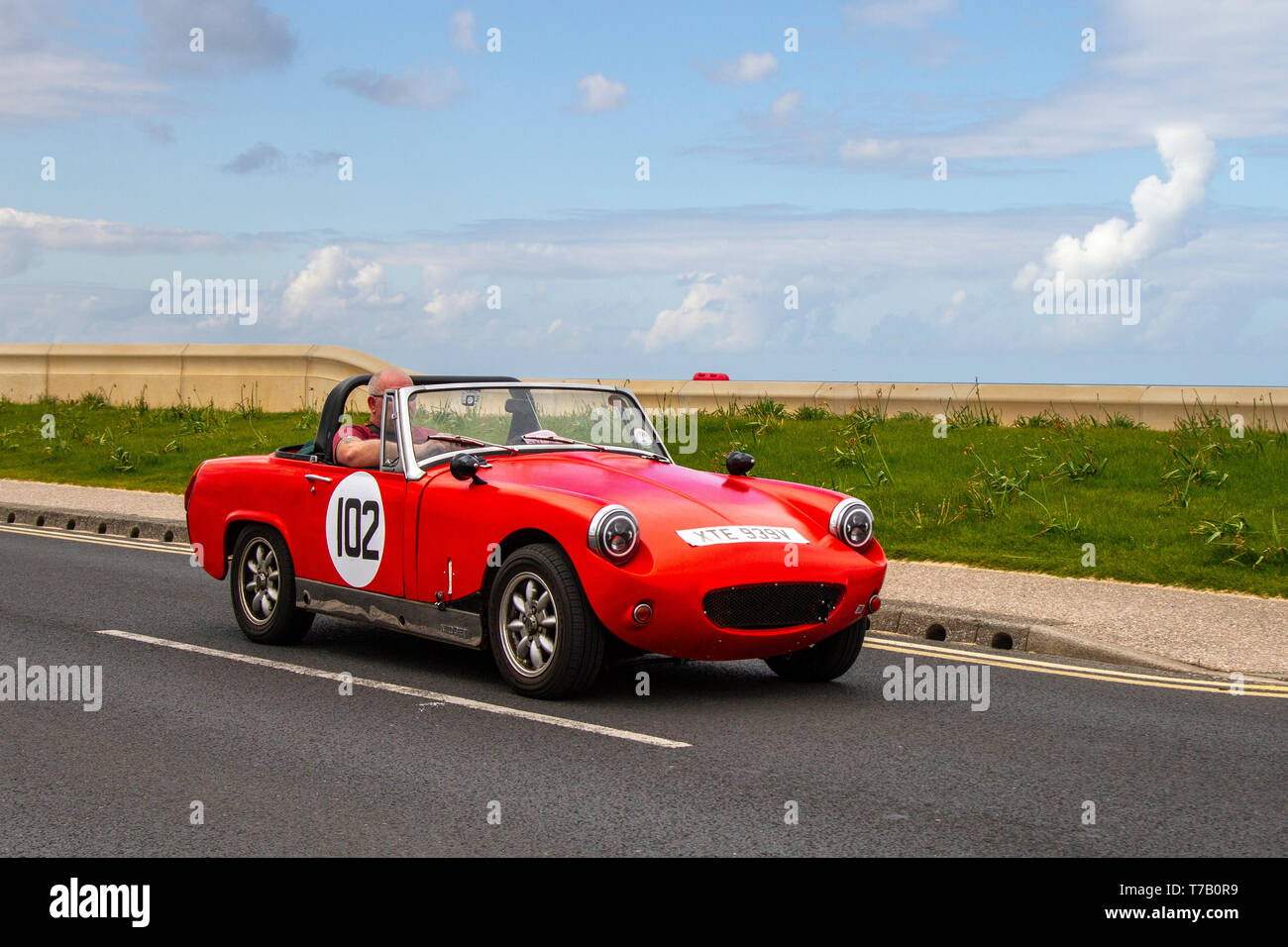 1979 MG Midget 1500 at Cleveleys Spring Car Show at Jubilee Gardens in 2019. A new location for a Classic Vehicle show from Blackpool Vehicle Preservation Group (BVPG). - Stock Image