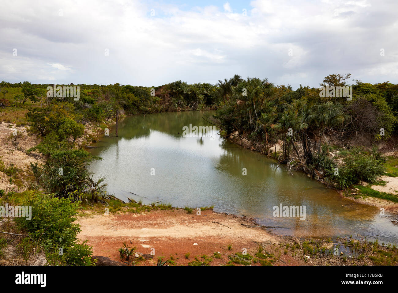 Pirara River in Guyana South America - Stock Image