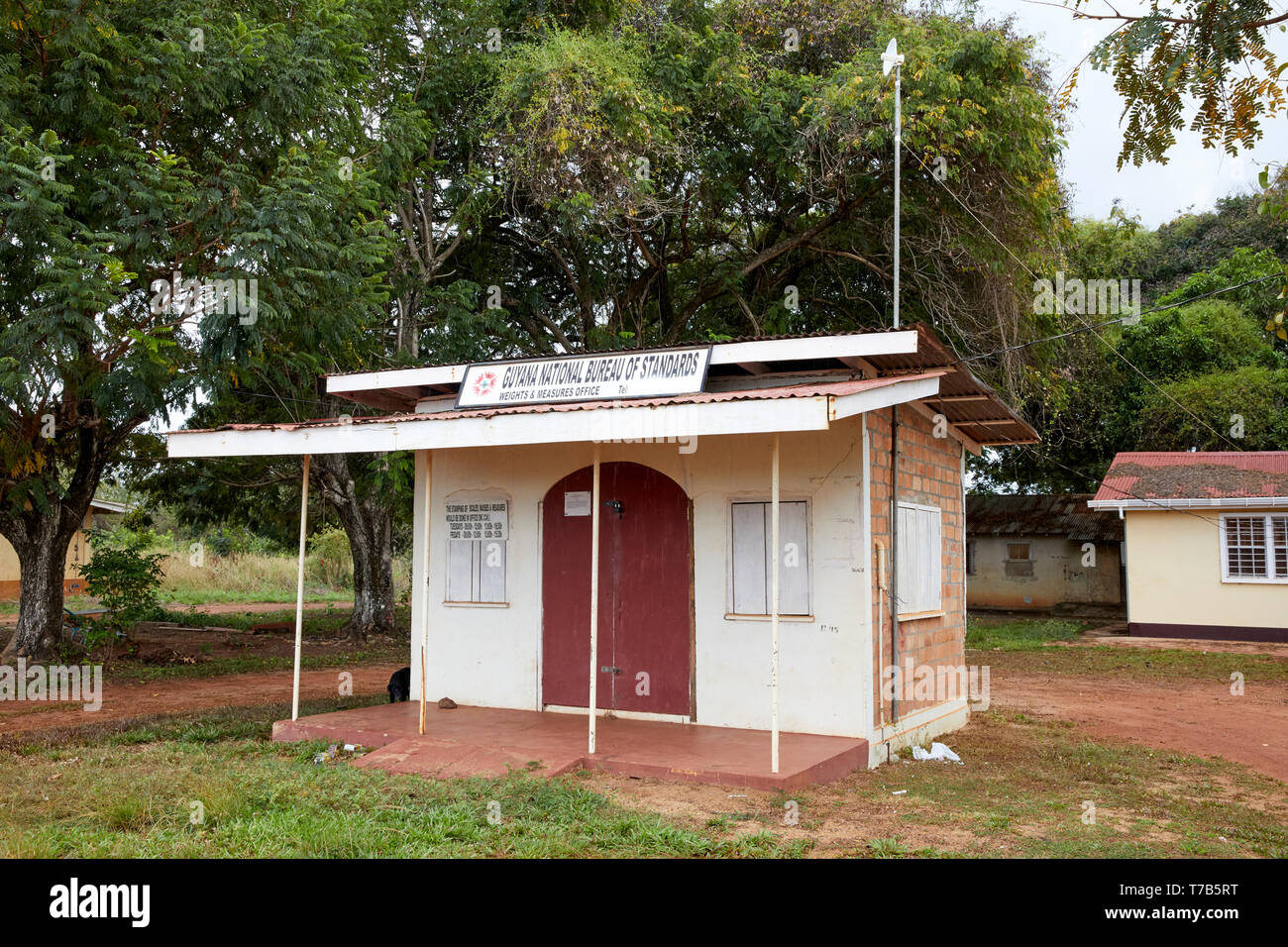 Guyana National Bureau of Standards in Lethem Guyana South America - Stock Image