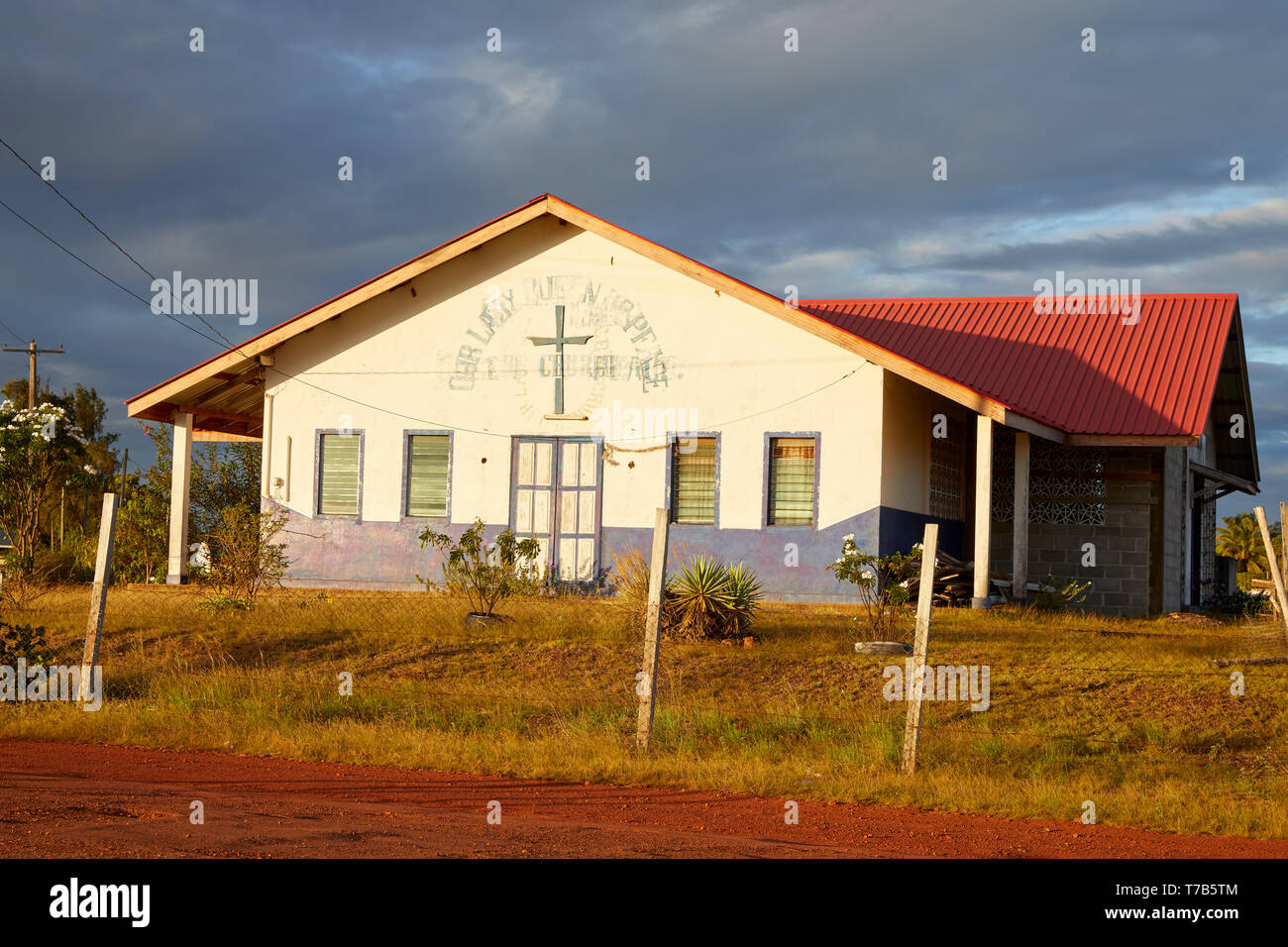 Our Lady Church in Lethem Guyana South America - Stock Image