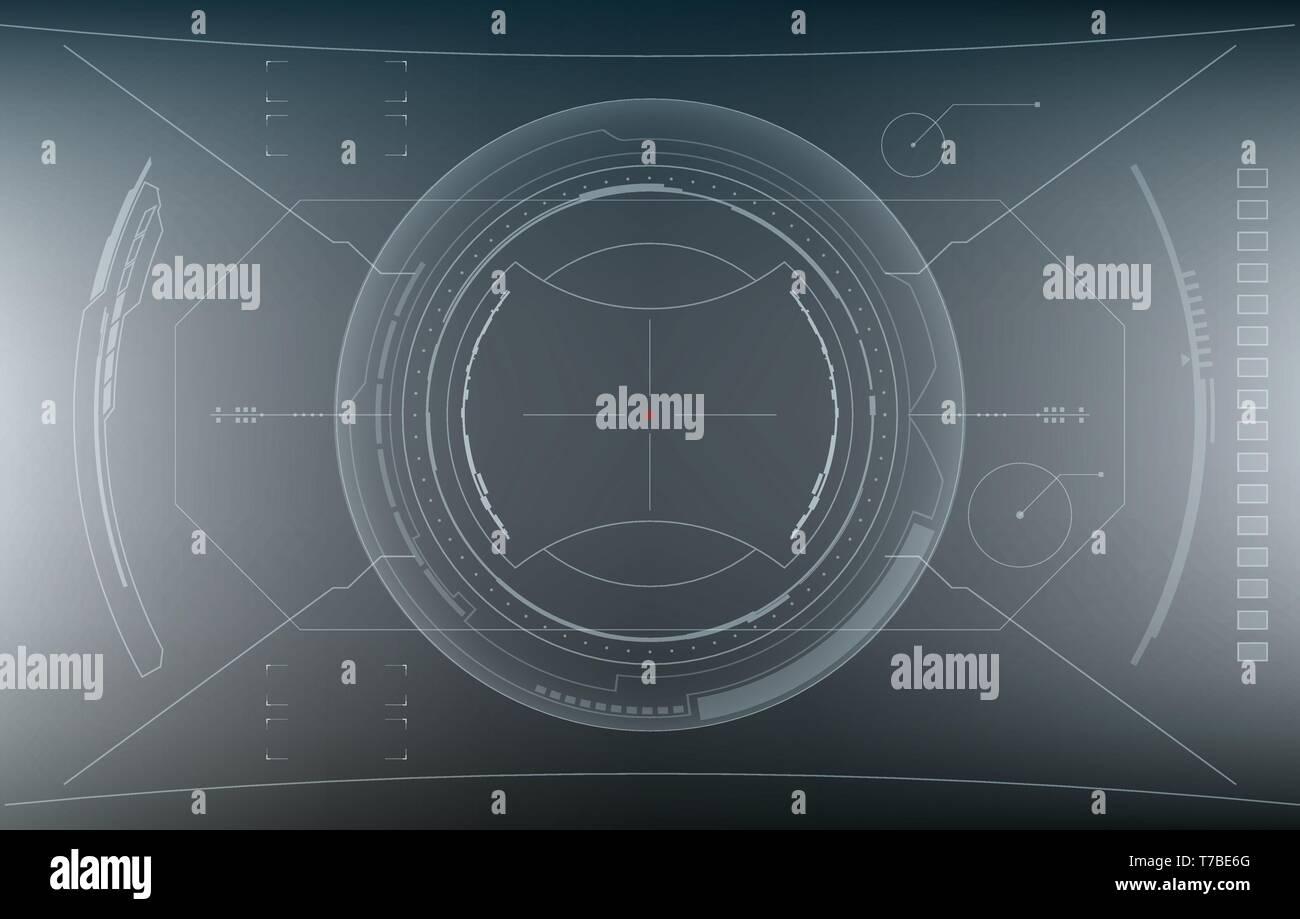Sci-Fi Futuristic Glowing HUD Display. Vitrual Reality - Stock Image