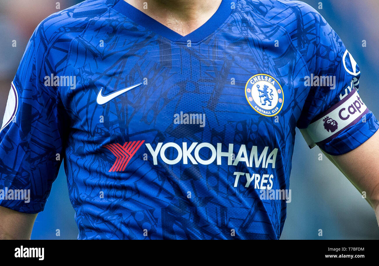 the best attitude dd292 d306e London, UK. 05th May, 2019. 2019/20 Chelsea front of shirt ...