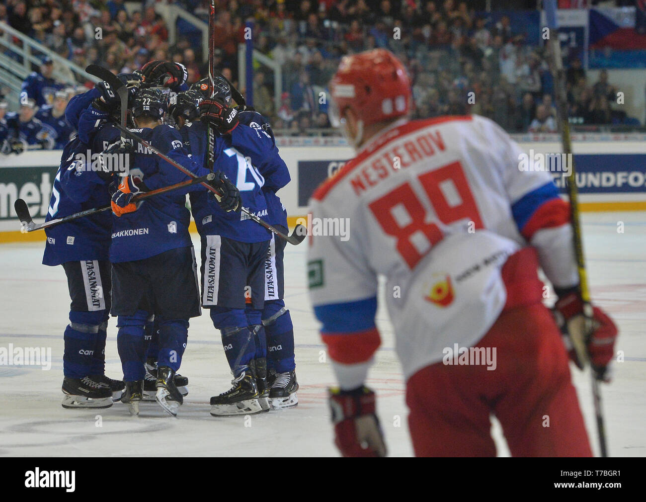 Brno Czech Republic 04th May 2019 Finnish Players Celebrate The