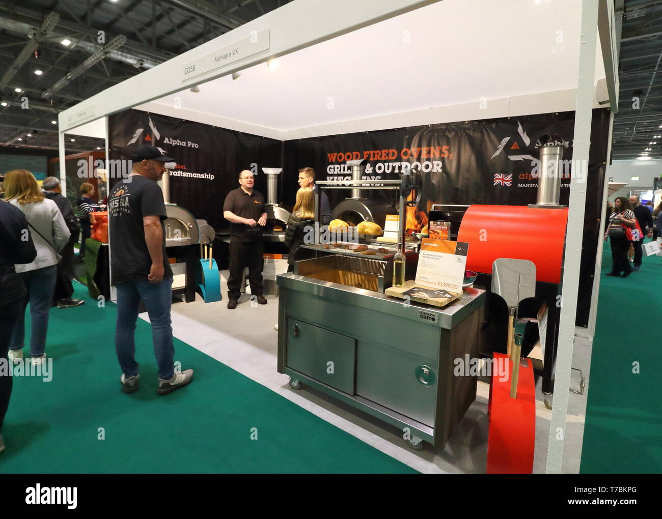 Barbeque Products Seen Displayed During The Exhibition Grand Designs Live Exhibition Sponsored By Anglian Home Improvements With More Than 500 Exhibitors In Zones For Sustainable Technology Self Build Design Grand Technology Interiors Kitchens