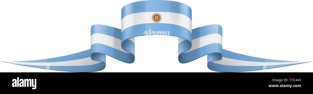 Argentina flag, vector illustration on a white background - Stock Vector