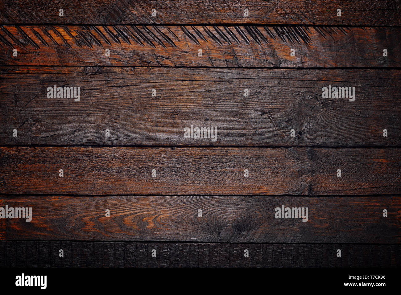 Rustic wooden table texture flat lay - Stock Image