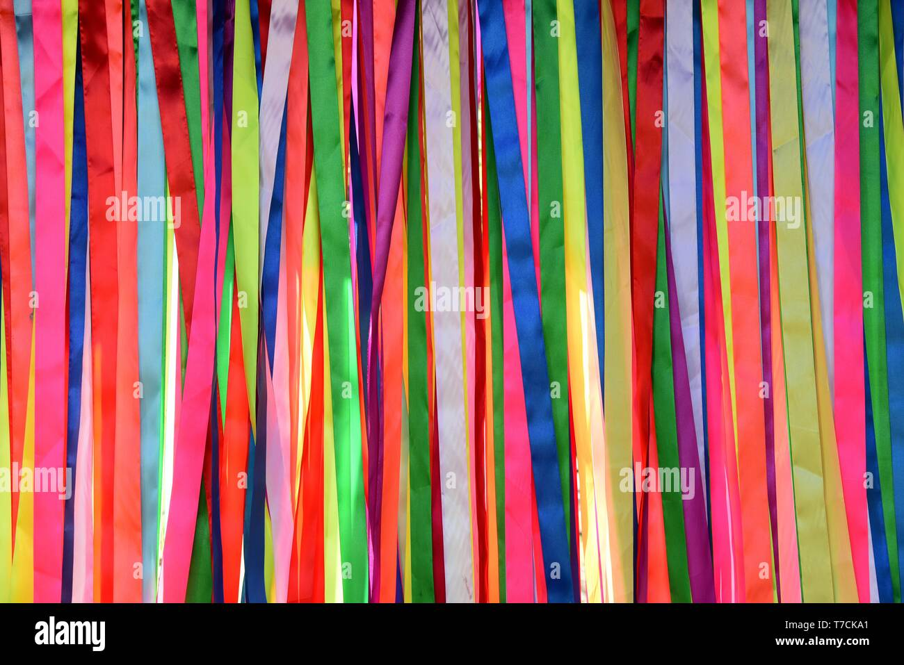 This `spectrum of colors` is the entrance to the Dino park in Tbilisi. - Stock Image