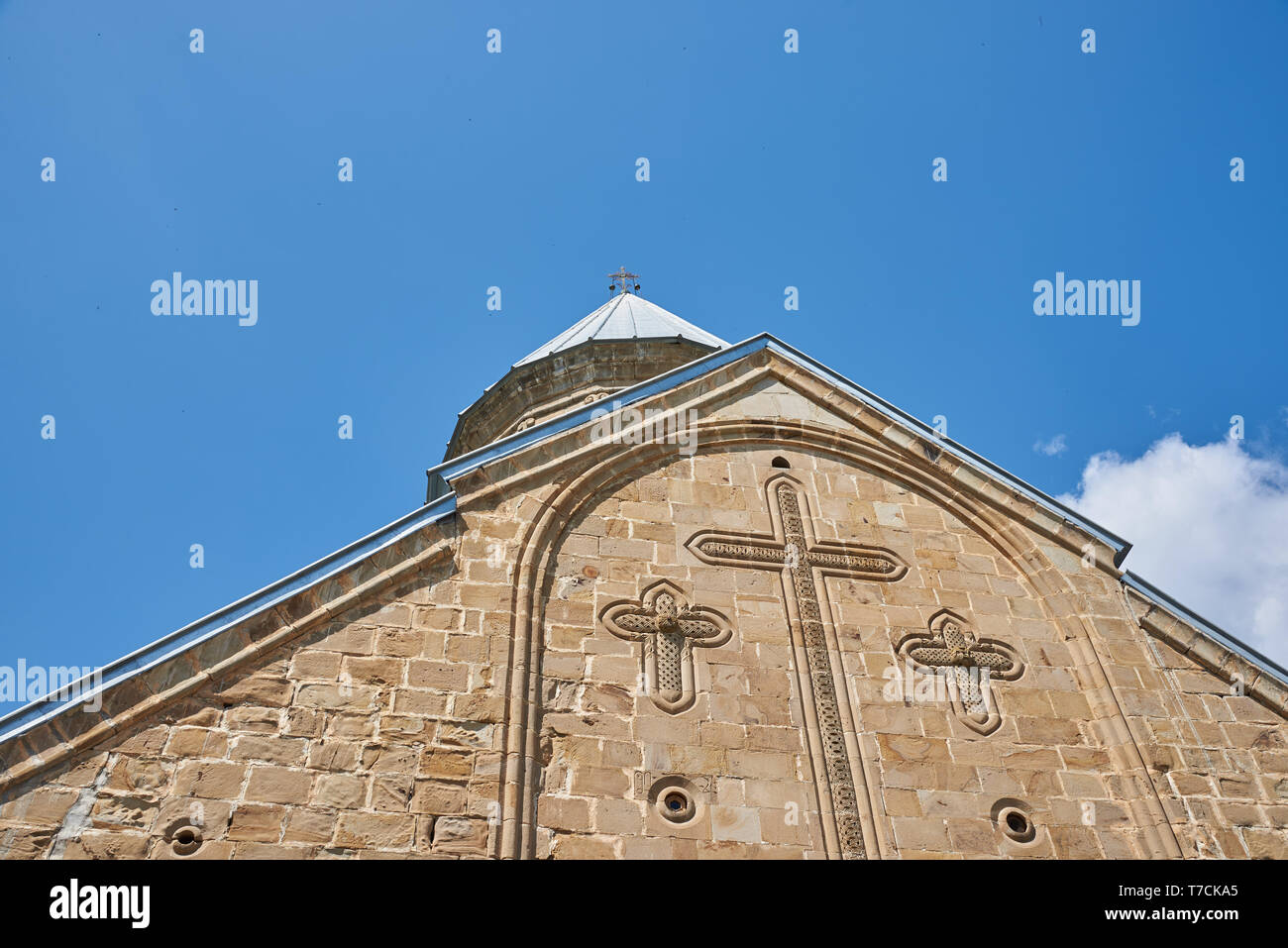 The church is a part of Ananuri castle complex built on the right bank of Aragvi River in 16th-17th century. - Stock Image