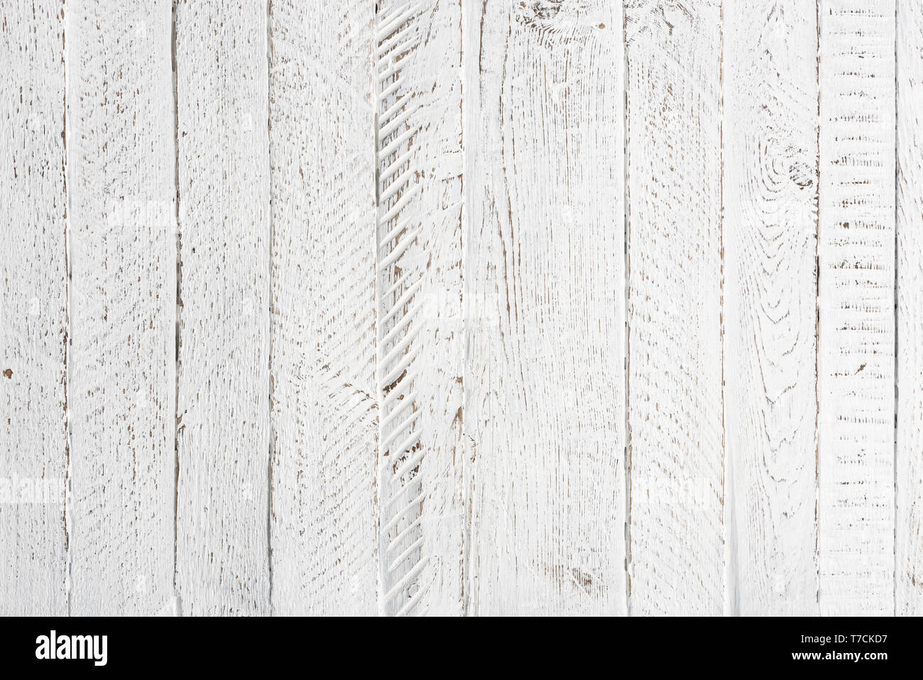 White wooden table texture background - Stock Image