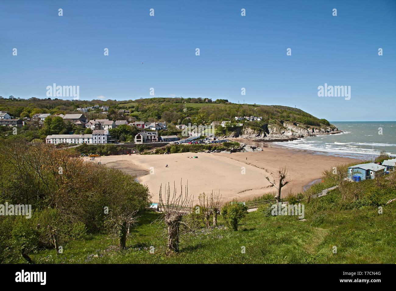Aberporth Beach, Ceredigion, West Wales, UK - Stock Image