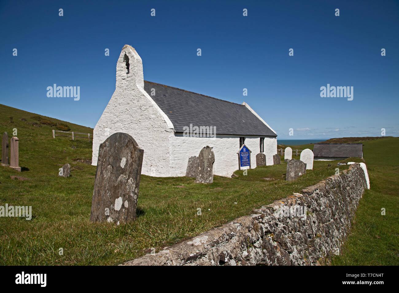 Holy Cross Church, Mwnt, Ceredigion, Wales,UK. - Stock Image