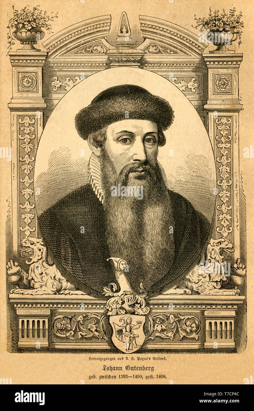Europa, Deutschland, Rheinland Pfalz, Mainz, Johannes Gutenberg ...