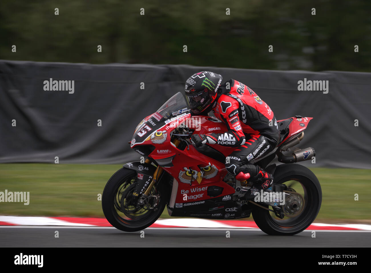 Ex Moto GP rider Scott Redding racing for the first time at Oulton park - Stock Image