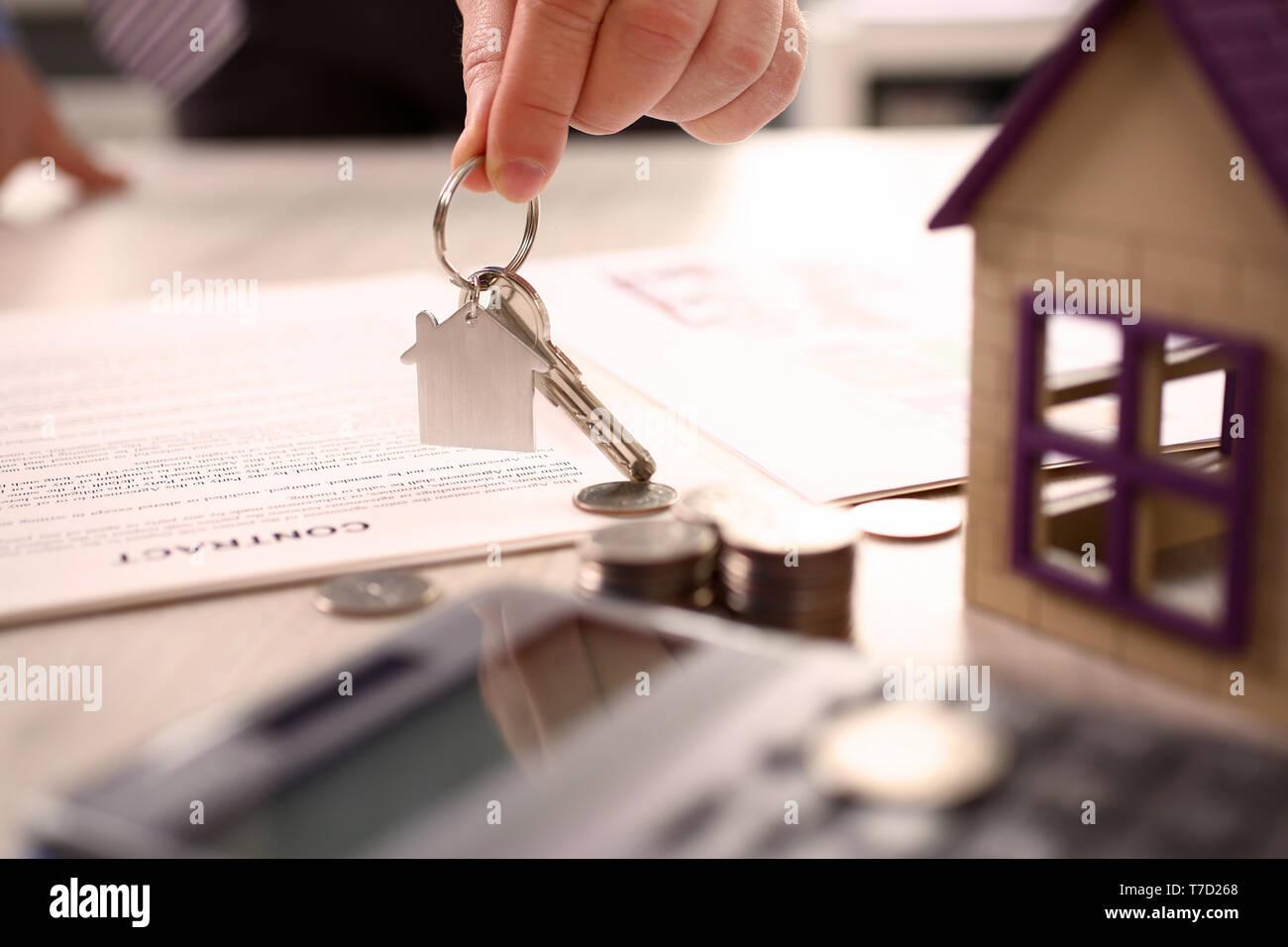 Home Real Estate Property Handover Sale Concept - Stock Image