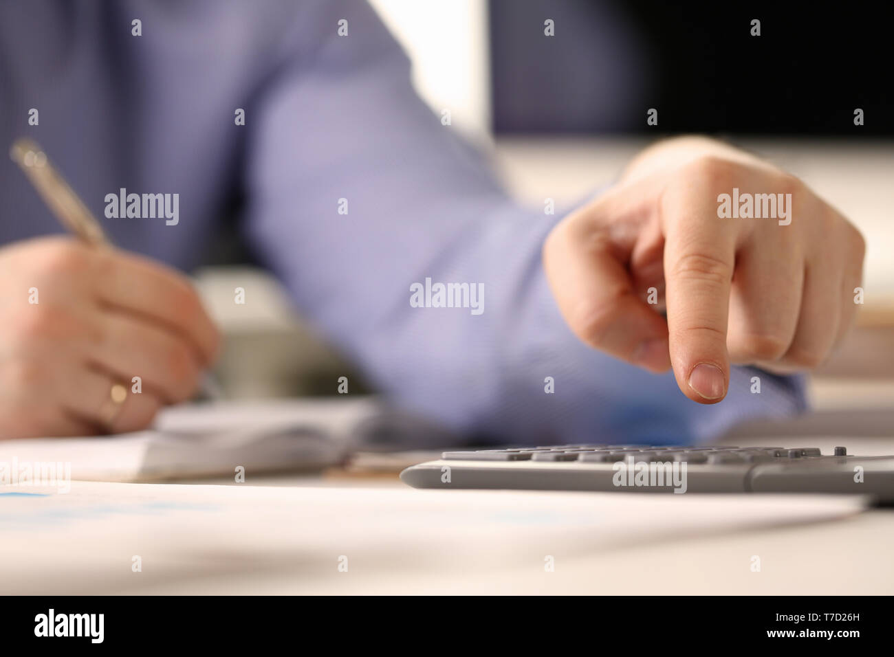 Financial Calculation, Counting Profit, Income - Stock Image