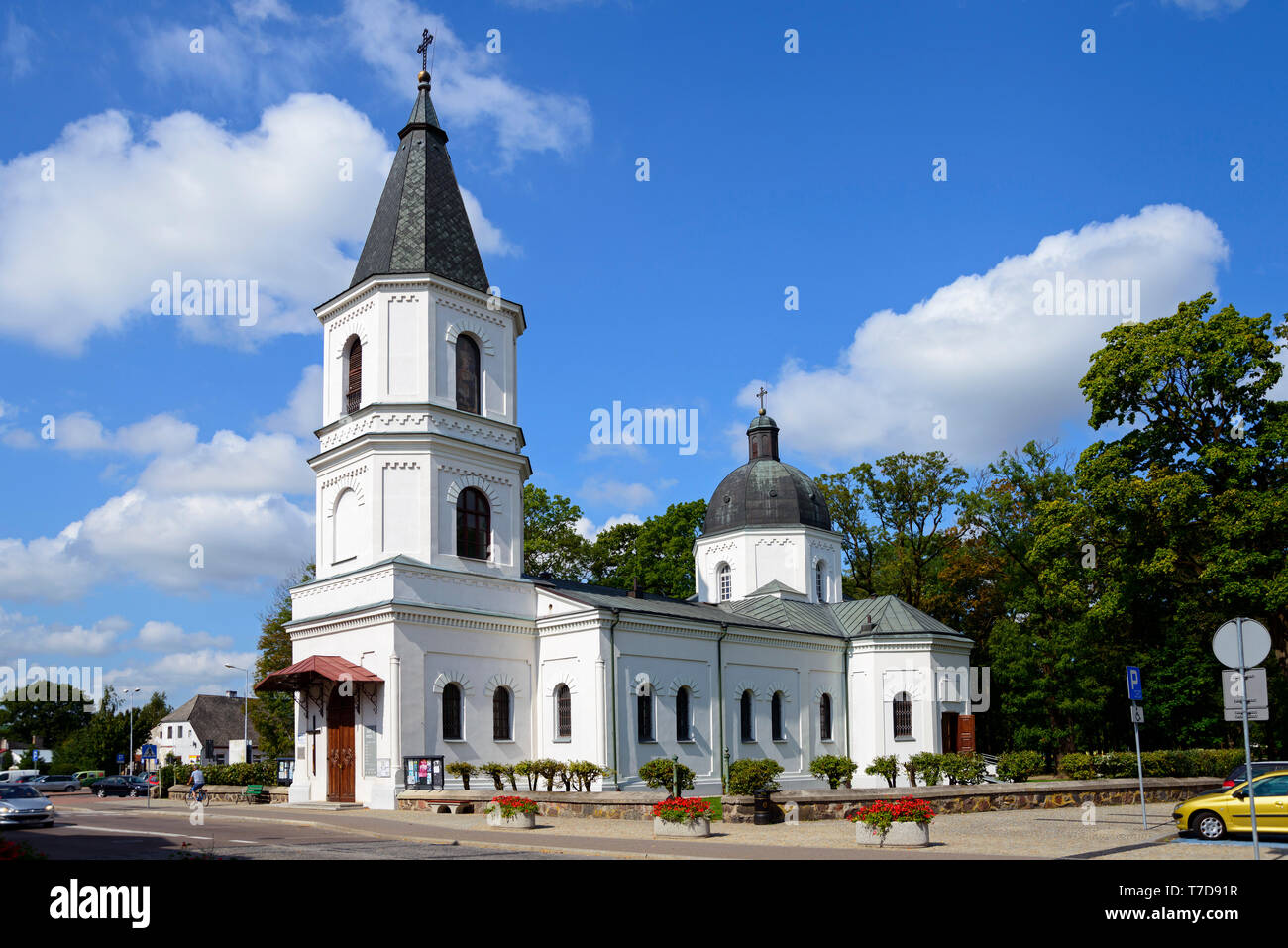 Sacred heart church, Suwalki, Podlasie, Poland Stock Photo