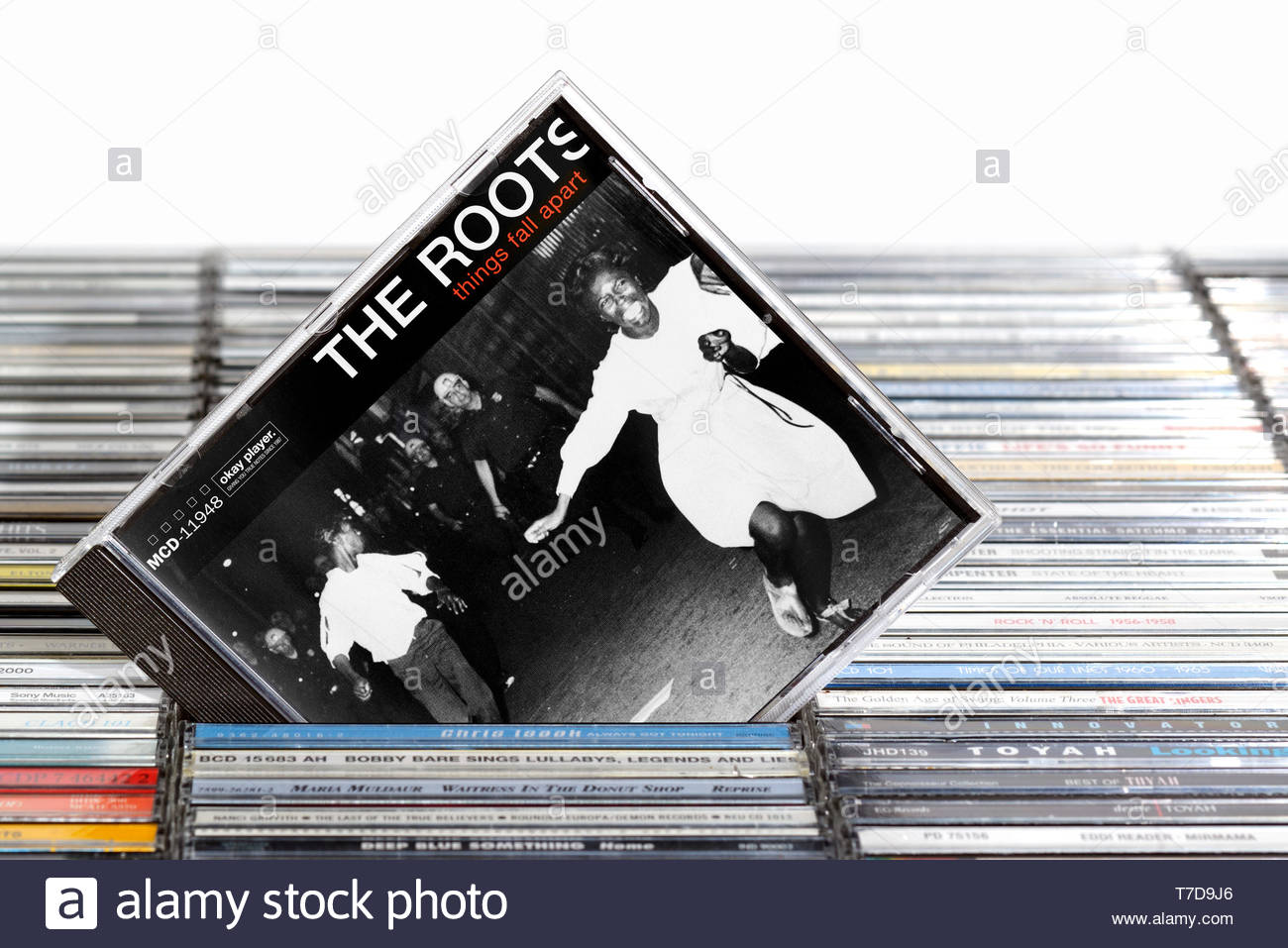 The Roots, Things Fall Apart album, CD music collection cases, England Stock Photo