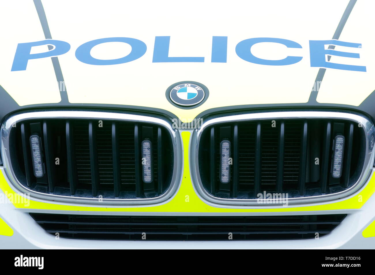 Front of a BMW X5 Police car - Stock Image