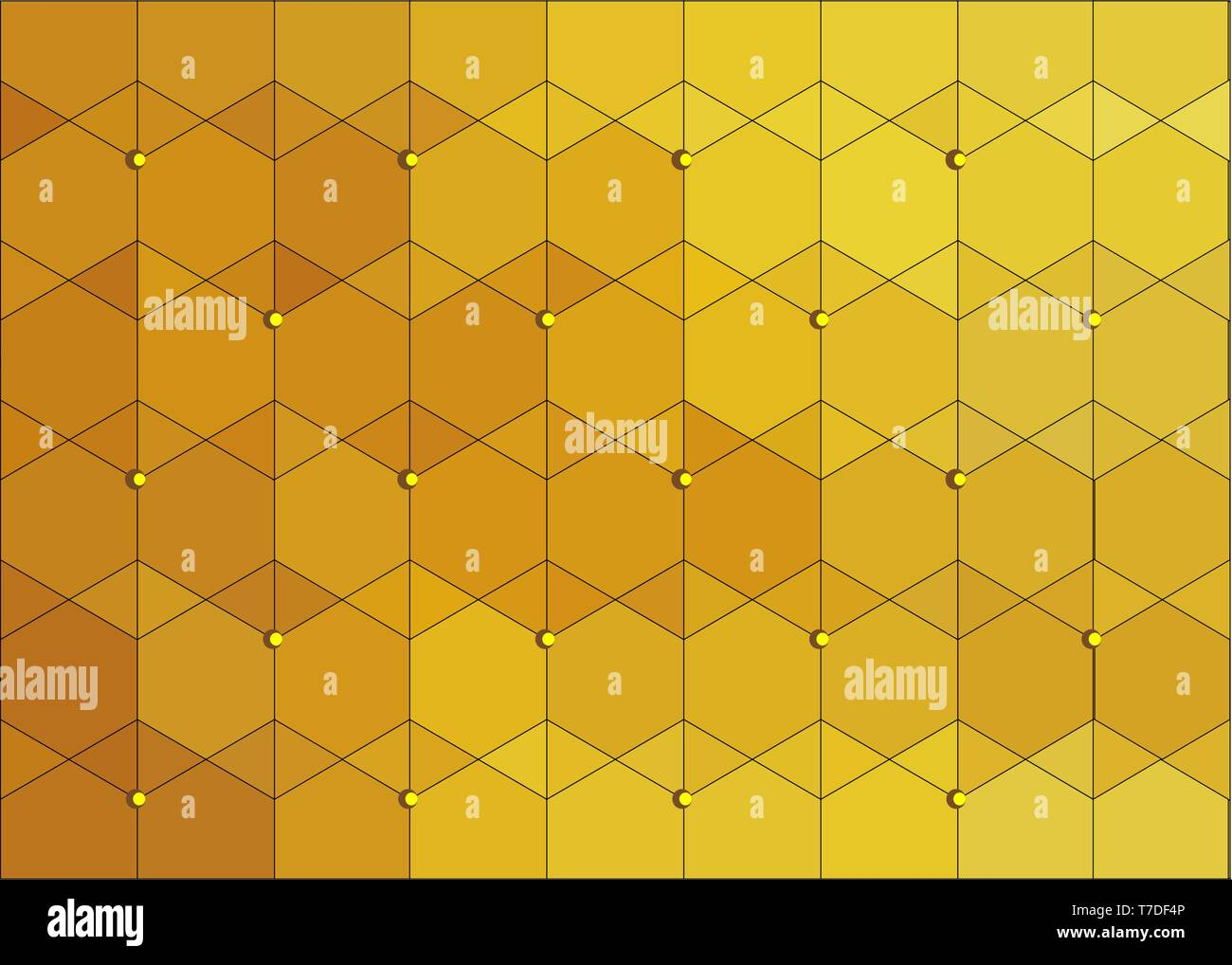 Pattern Texture Skin Surface DRAGON Scaly GOLD color - Stock Image