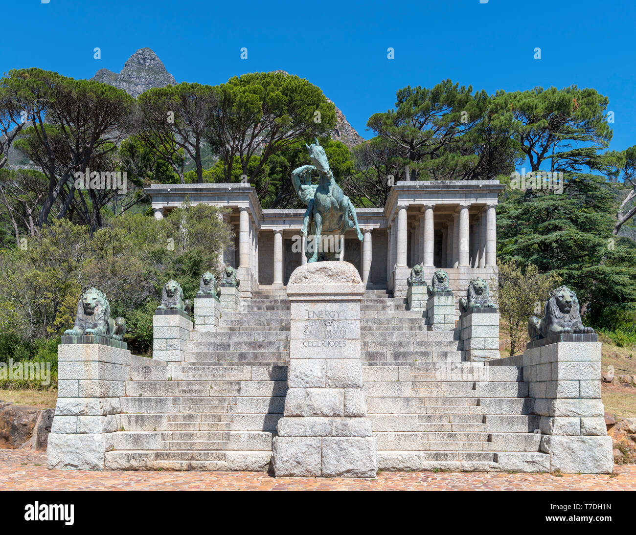 Rhodes Memorial, Devil's Peak, Cape Town, Western Cape, South Africa - Stock Image