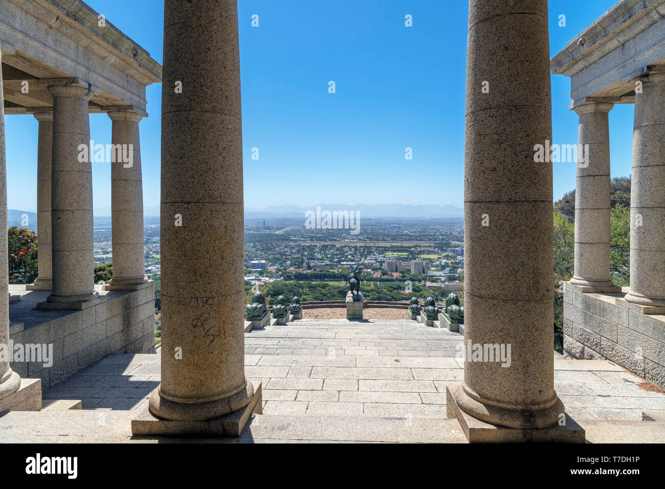 View from the Rhodes Memorial, Devil's Peak, Cape Town, Western Cape, South Africa - Stock Image
