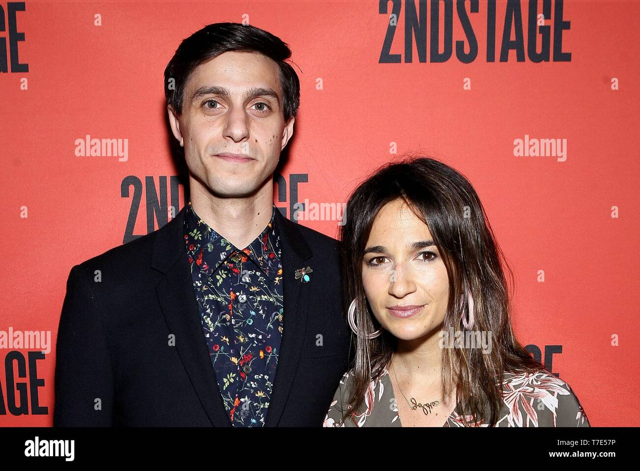 New York, NY, USA. 6th May, 2019. Gideon Glick, Sas Goldberg at arrivals for The Second Stage 40th Birthday Gala, Hammerstein Ballroom, New York, NY May 6, 2019. Credit: Steve Mack/Everett Collection/Alamy Live News - Stock Image