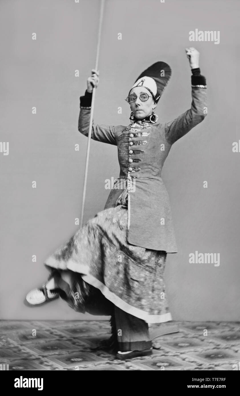 Mrs. Geo. H. Gilbert, Full-Length Portrait, Photograph by Mathew Brady, Brady-Handy Collection, 1850's Stock Photo