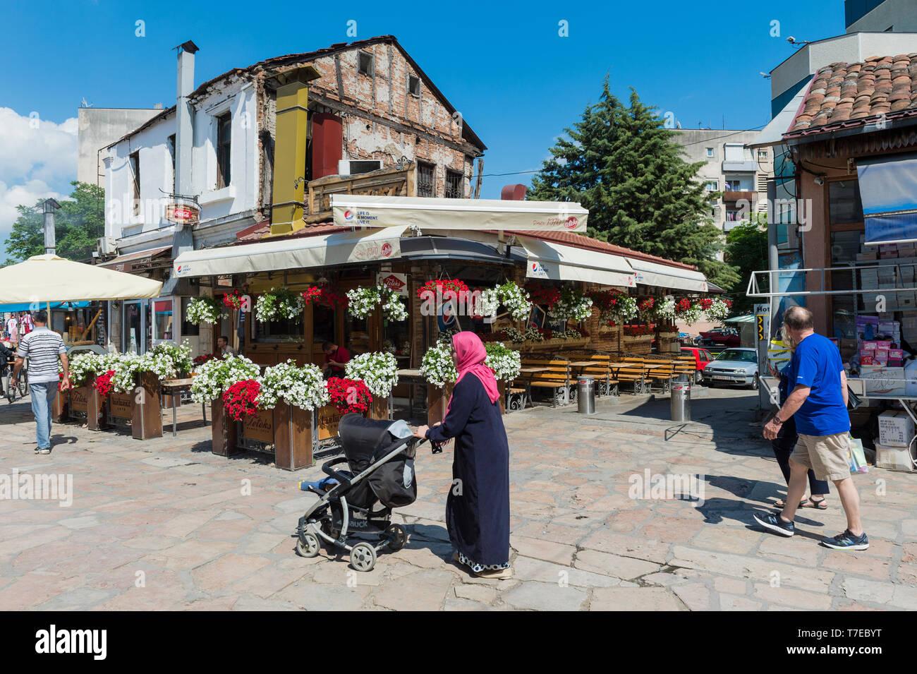 Street in Old bazar, Skopje, Macedonia - Stock Image