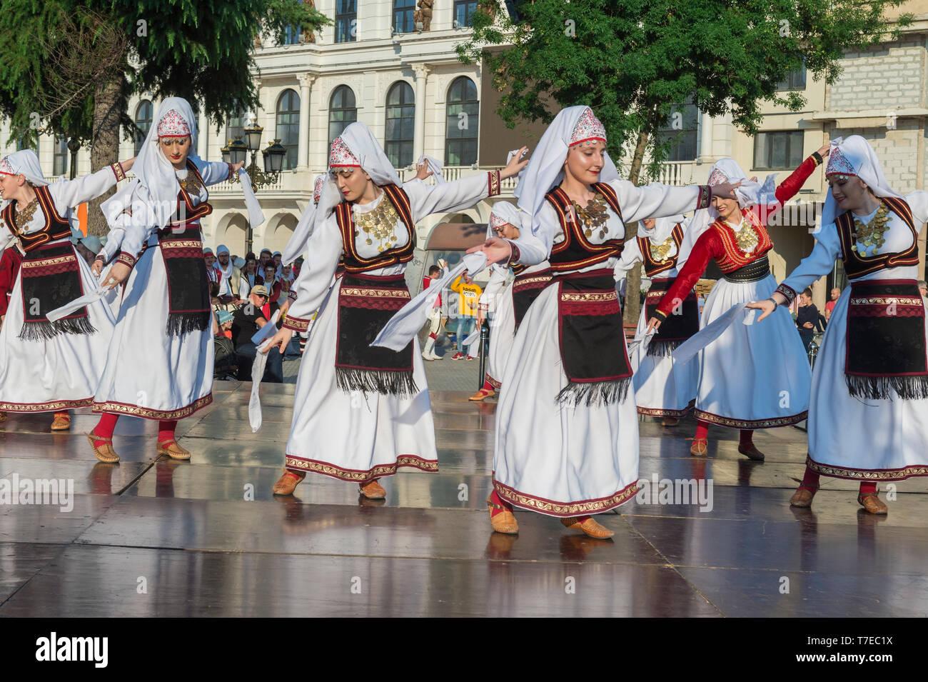 International Folklore Festival, Youth Day, Skopje, Macedonia - Stock Image