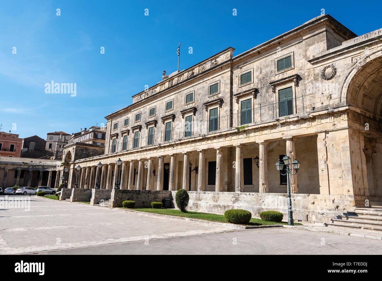 Asian Art Museum, old town, Kerkyra, Corfu Island, Ionian Islands, Greece - Stock Image