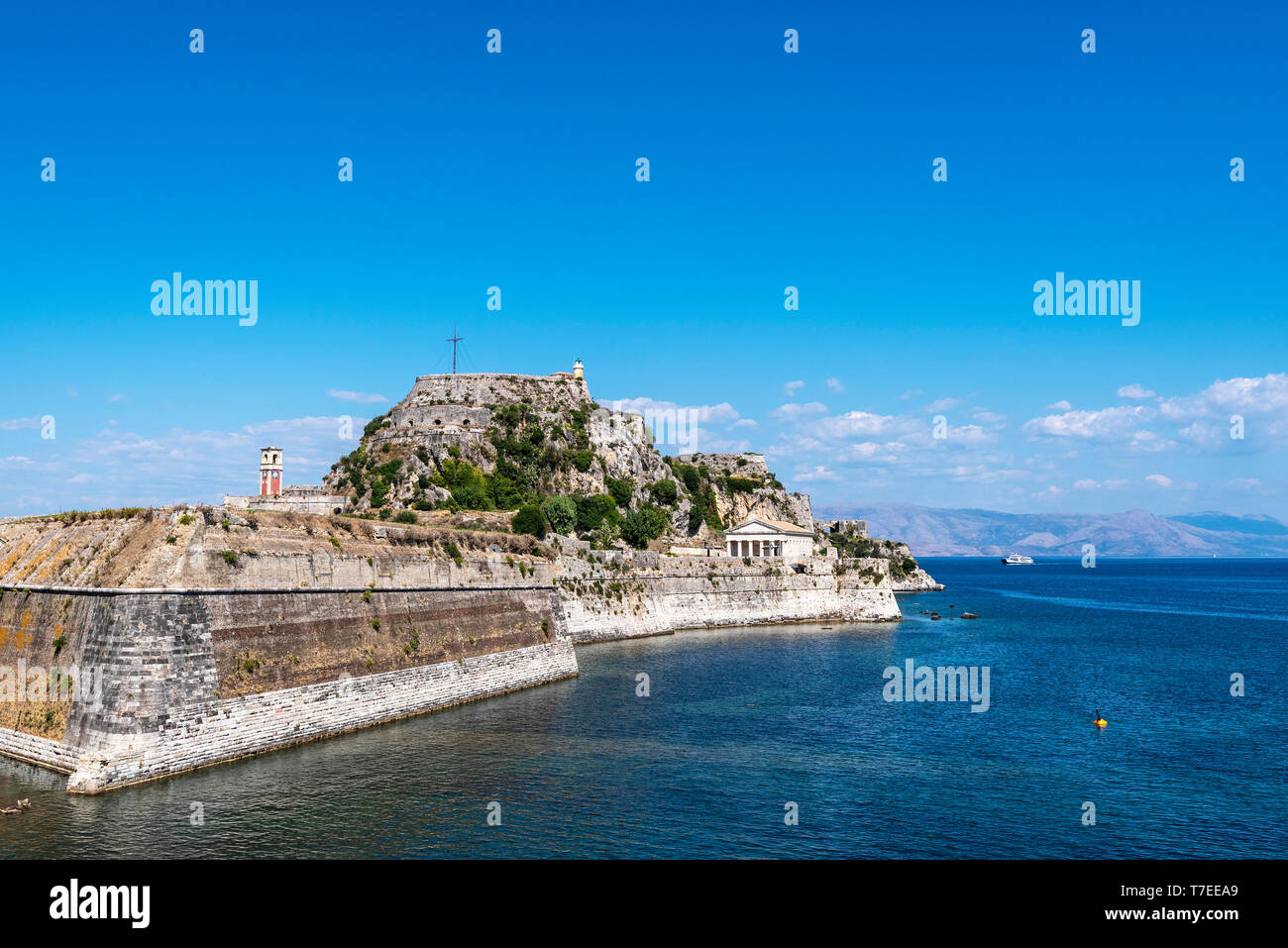 old fortress, Kerkyra, Corfu Island, Ionian Islands, Mediterranean Sea, Greece - Stock Image