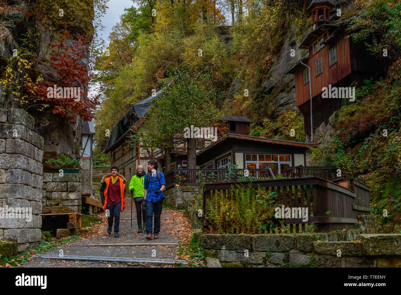 Rathewalder Muehle, Nationalpark Saechsische Schweiz, Sachsen, Deutschland, Rathewalder M³hle - Stock Image